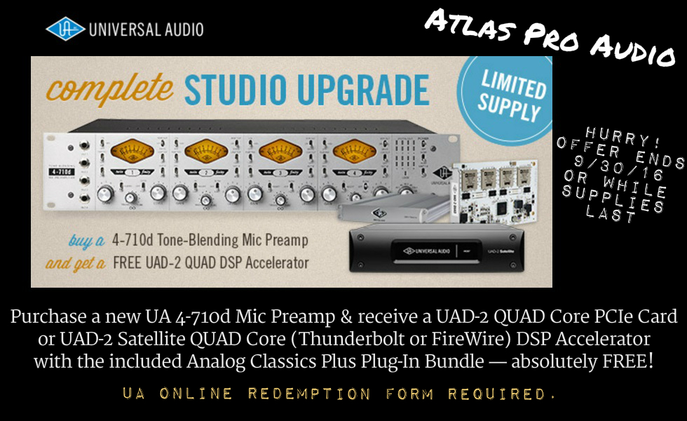UA-4710d Mic Preamp with FREE UAD-2 Quad Core PCIe Card!