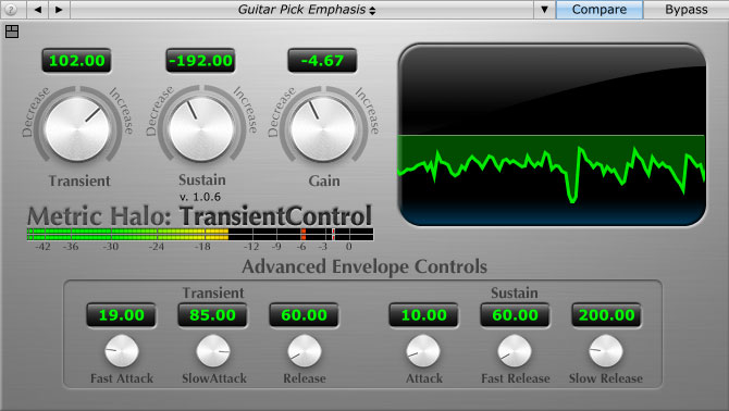 Metric Halo Transient Control