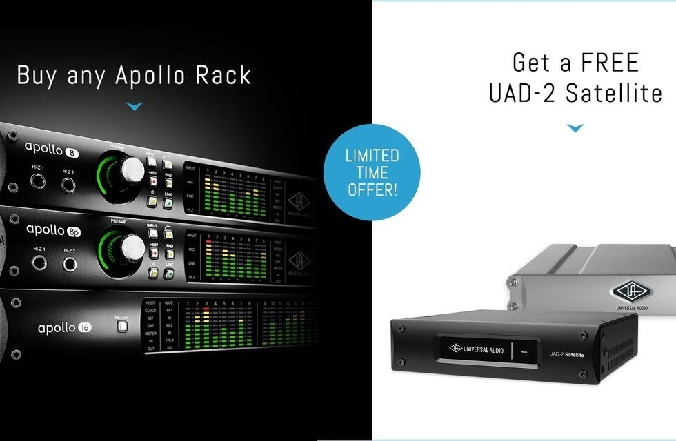 Universal Audio Apollo Rack Promotion