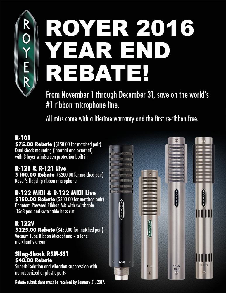 Royer Rebates - 2016