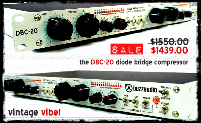 Special Deal - Buzz Audio DBC-20 for $1439 USD at Atlas Pro Audio